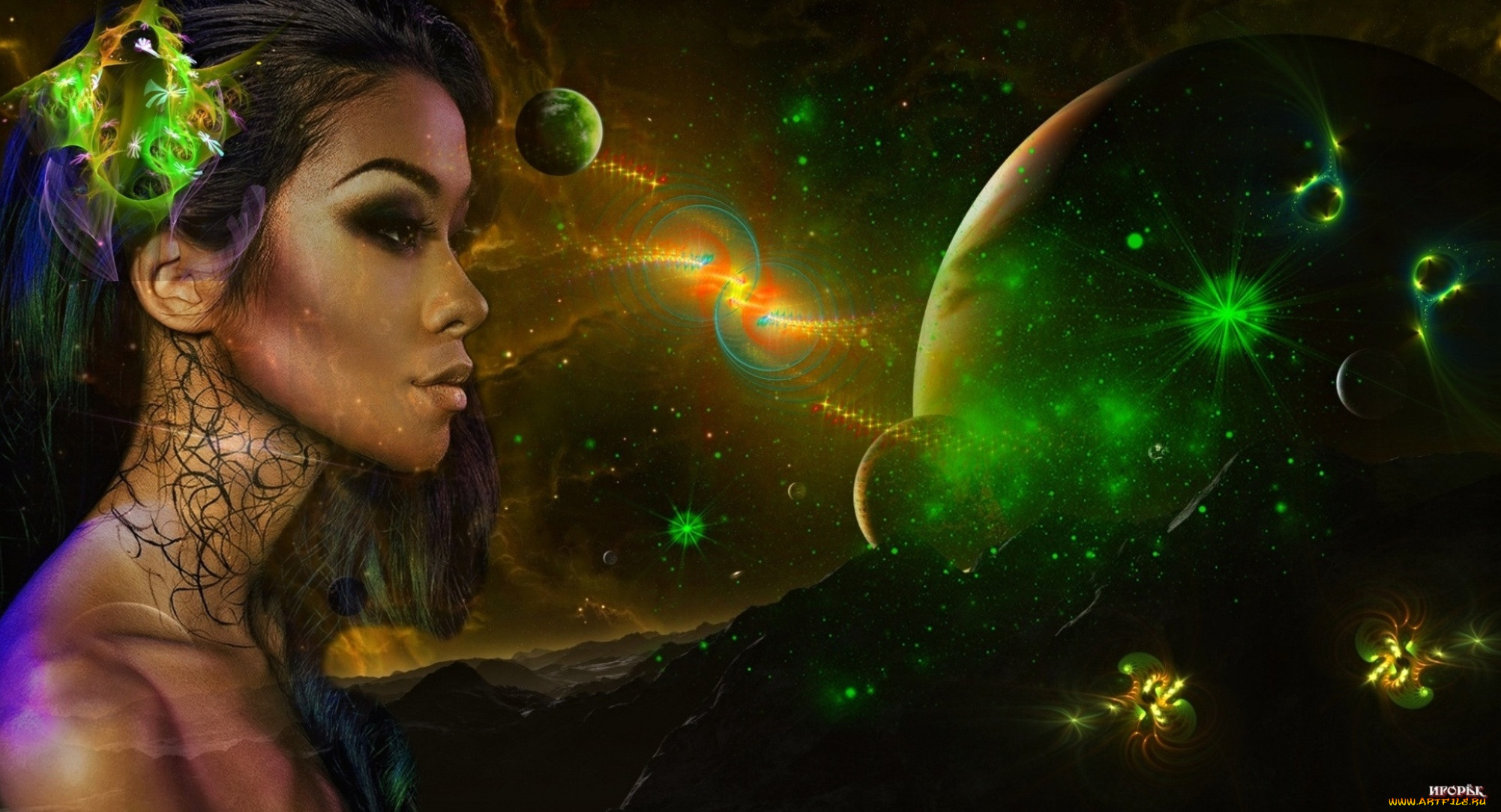 Картинка космической девушки
